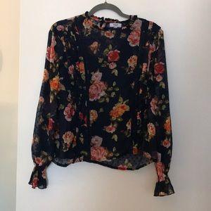 Kenzie Women's Floral Blouse w/ Cami